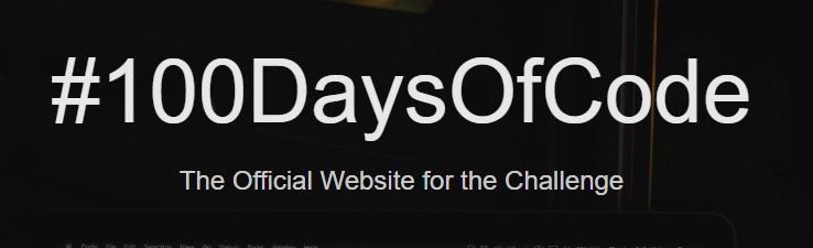 Imágen de la página web de #100DaysOfCode